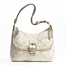 SOHO SIGNATURE METALLIC FLAP DUFFLE