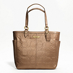 GALLERY EMBOSSED LEATHER N/S TOTE