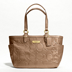 GALLERY EMBOSSED LEATHER TOTE