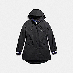 RAINCOAT VARSITY PARKA - BLACK - COACH F20823