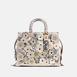 ROGUE WITH SNAKESKIN TEA ROSE - OL/CHALK - COACH F20931