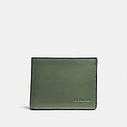 SLIM BILLFOLD ID WALLET - MOSS - COACH F20954