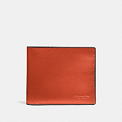 3-IN-1 WALLET - DEEP ORANGE - COACH F20956