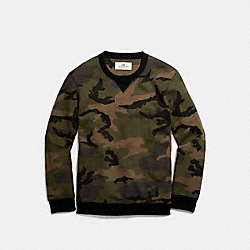 CAMO SWEATSHIRT - f20997 - DARK GREEN CAMO