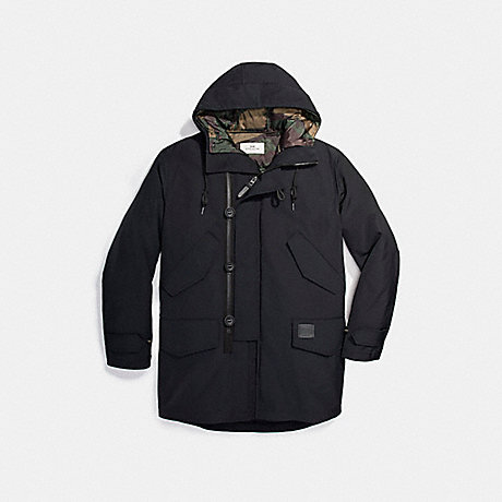 COACH f21008 DOWN PARKA BLACK