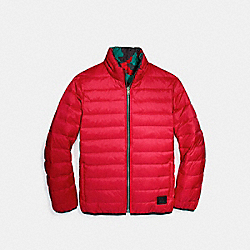 REVERSIBLE DOWN JACKET - RED - COACH F21010