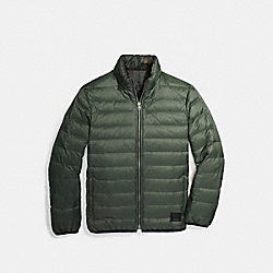 REVERSIBLE DOWN JACKET - RIFLE GRN - COACH F21010