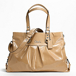 COACH ASHLEY PATENT CARRYALL - ONE COLOR - F21043