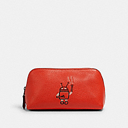KEITH HARING COSMETIC CASE 17 - QB/BRIGHT ORANGE - COACH F21067