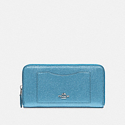 ACCORDION ZIP WALLET - METALLIC POOL/SILVER - COACH F21068