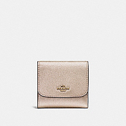 COACH SMALL WALLET - LIGHT GOLD/PLATINUM - F21069