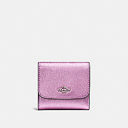 COACH SMALL WALLET - SILVER/METALLIC LILAC - F21069