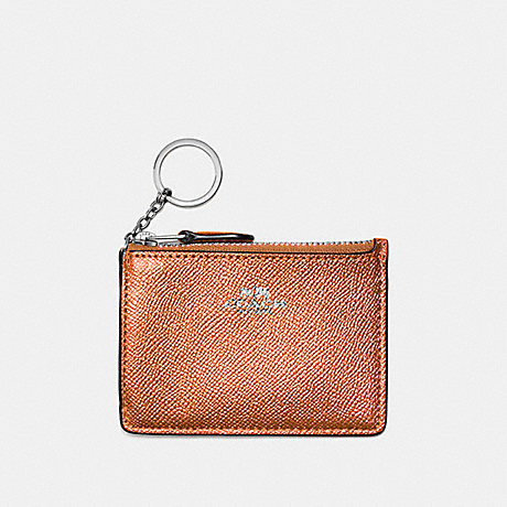 COACH MINI SKINNY ID CASE - ROSE GOLD/SILVER - f21072