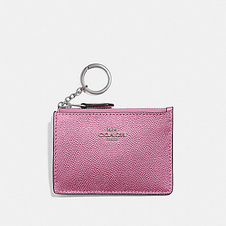 COACH MINI SKINNY ID CASE - METALLIC BLUSH/SILVER - F21072