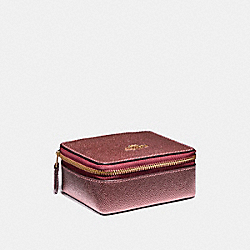 COACH JEWELRY BOX - LIGHT GOLD/METALLIC CHERRY - F21074