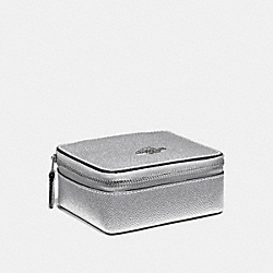JEWELRY BOX - f21074 - METALLIC SILVER/SILVER