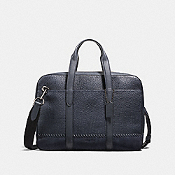 METROPOLITAN SOFT BRIEF WITH BASEBALL STITCH - MIDNIGHT NAVY/BLACK ANTIQUE NICKEL - COACH F21080