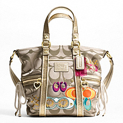 DAISY POP C APPLIQUE POCKET TOTE