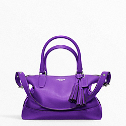 COACH LEATHER MOLLY SATCHEL - SILVER/ULTRAVIOLET - F21132