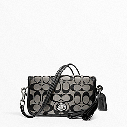 COACH SIGNATURE PENNY SHOULDER PURSE - ONE COLOR - F21153