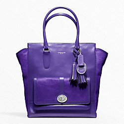 COACH HAIRCALF POCKET TANNER TOTE - ONE COLOR - F21155