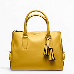 COACH ARCHIVAL TOP ZIP SATCHEL - BRASS/SUNFLOWER - F21192