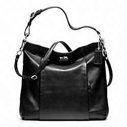 COACH MADISON LEATHER ISABELLE - SILVER/BLACK - F21224