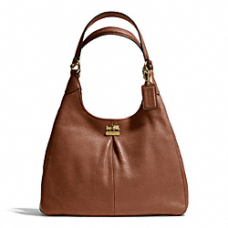 COACH MADISON LEATHER MAGGIE - BRASS/CHESTNUT - F21225