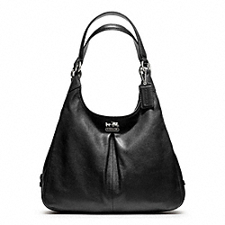 COACH MADISON LEATHER MAGGIE - SILVER/BLACK - F21225