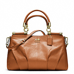 COACH MADISON LEATHER CARRIE SATCHEL - ONE COLOR - F21227