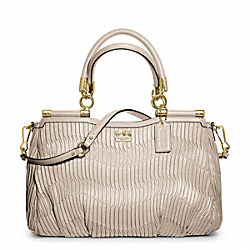 COACH MADISON GATHERED LEATHER CARRIE - ONE COLOR - F21281