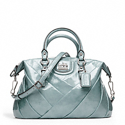 COACH MADISON DIAGONAL PLEATED PATENT JULIETTE - SILVER/GREY - F21304