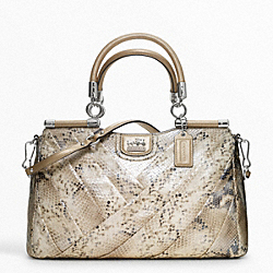 COACH MADISON DIAGONAL PLEATED METALLIC EXOTIC CARRIE - ONE COLOR - F21316
