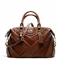 COACH MADISON DIAGONAL PLEATED MIXED EXOTIC JULIETTE - ONE COLOR - F21319