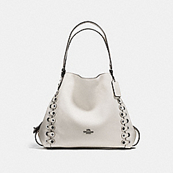 EDIE SHOULDER BAG 31 WITH COACH LINK DETAIL - CHALK/DARK GUNMETAL - COACH F21348