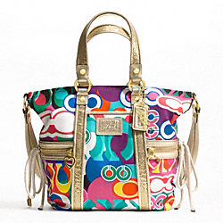 DAISY POP C PRINT POCKET TOTE