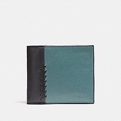 3-IN-1 WALLET WITH BASEBALL STITCH - CYA - COACH F21371