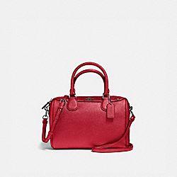 MINI BENNETT SATCHEL - METALLIC HOT PINK/BLACK ANTIQUE NICKEL - COACH F21508