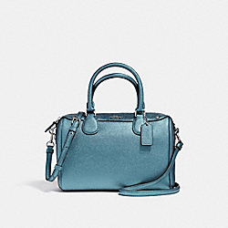 MINI BENNETT SATCHEL - METALLIC POOL/SILVER - COACH F21508