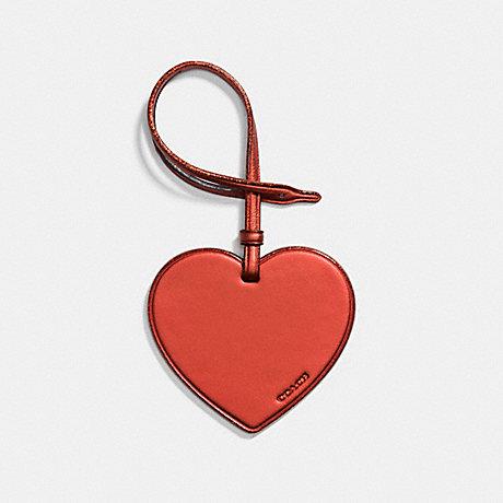 COACH HEART ORNAMENT - METALLIC BRICK - F21517