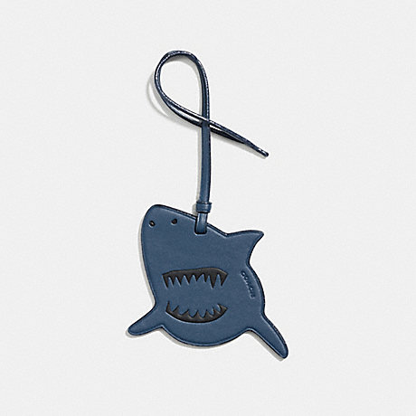 COACH SHARKY ORNAMENT - DARK DENIM - F21518