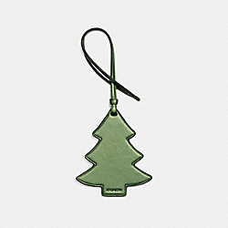 CHRISTMAS TREE ORNAMENT - METALLIC LIME - COACH F21520