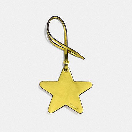 COACH STAR ORNAMENT - METALLIC LEMON - F21534