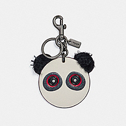 COACH ROCKY FACE BAG CHARM - BLACK/CHALK - F21540
