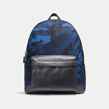 COACH CHARLES BACKPACK WITH CAMO PRINT - NIMS5 - f21556