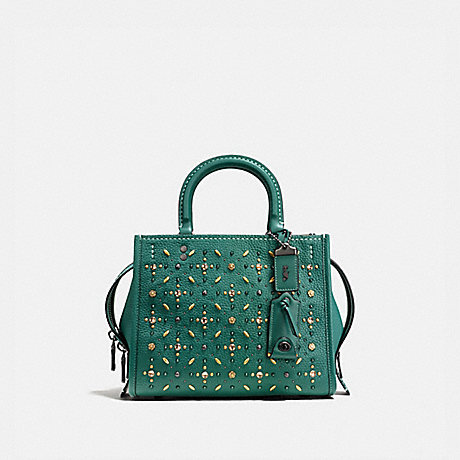 COACH ROGUE 25 WITH PRAIRIE RIVETS - DARK TURQUOISE/BLACK COPPER - F21590