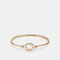 COACH OPEN CIRCLE BANGLE - GOLD - F21620