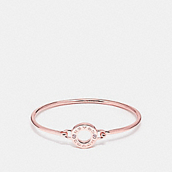 COACH OPEN CIRCLE BANGLE - ROSEGOLD - F21620