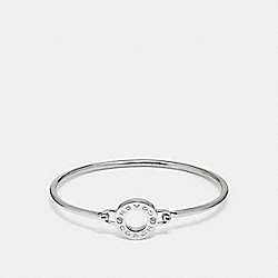 COACH OPEN CIRCLE BANGLE - SILVER - F21620