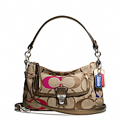 COACH POPPY EMBORIDERED SIGNATURE C GROOVY CROSSBODY - ONE COLOR - F21623